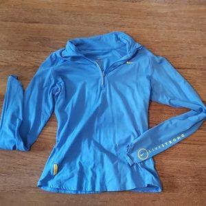 Nike blue 1/4 zip medium running shirt